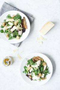 Cæsarsalat med vesterhavsost