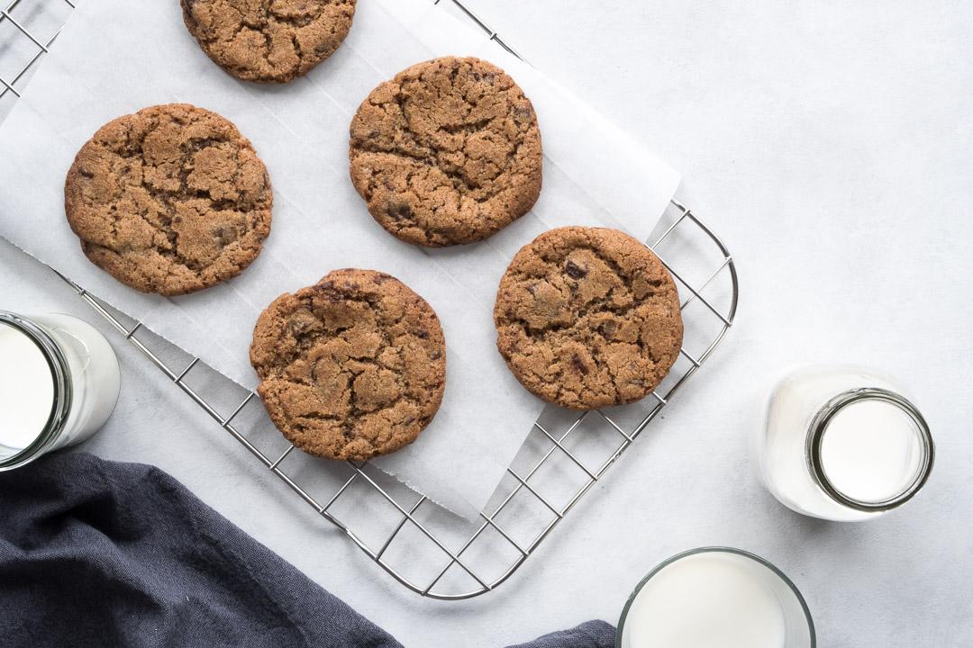 chokolade cookies - opskrift på sprøde cookies