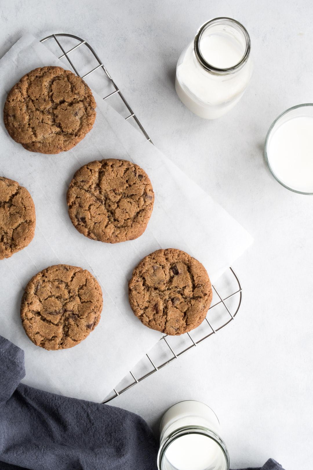 Cookies med chokolade og spelt - opskrift