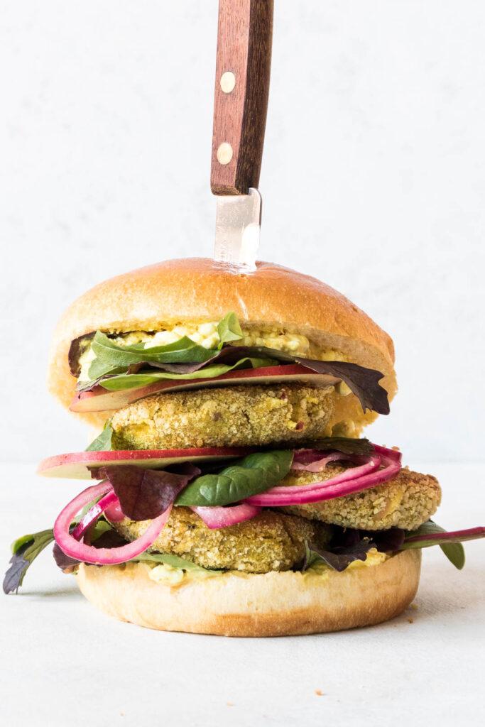 Vegetarisk burger med kødfri fars
