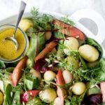 Kartoffelsalat med rabarber og dild - opskrift på grøn kartoffelsalat