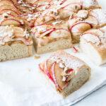 brød med æble - opskrift på sød foccacia