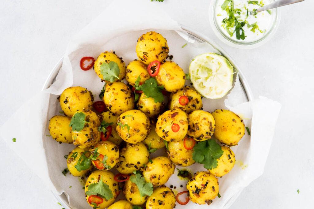 Opskrift på indiske krydrede kartofler - Bombay kartofler