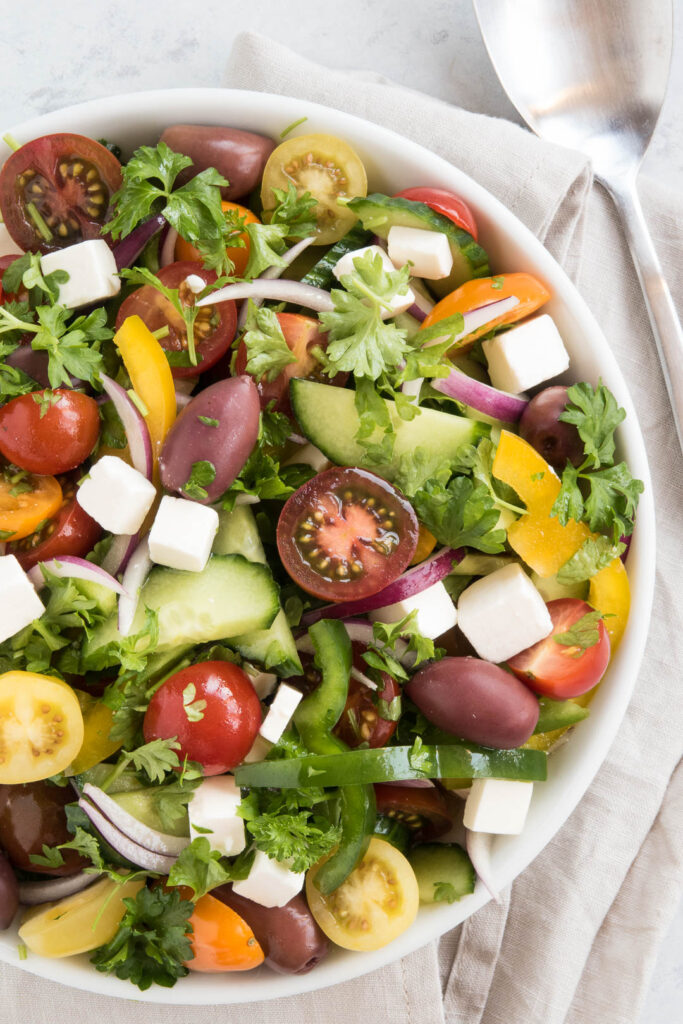 Græsk salat - opskrift på sommersalat